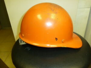 Vtg Msa Skullgard Steel Orange Hard Hat Ansi Z89 1 1969 Steampunk