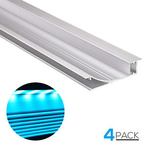 4 Pack 3 3ft Wall Mount Led U channel Aluminum Profile