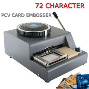 72 Character Letter Manual Embosser Stamping Machine Pvc Credit Card Diy Maker