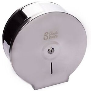 Charles Swann 9 Commercial Stainless Steel Toilet Paper Dispenser With