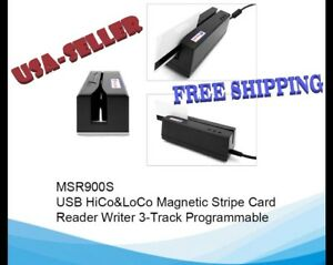 Msr900s Magnetic Stripe Card Reader Writer Small Encoder Msr206 Msr605 New Usa