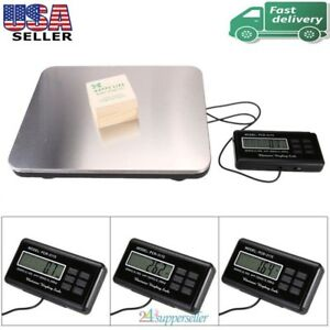 660lbs Lcd Ac Digital Floor 300kg Weigh Bench Scale Postal Platform Shipping Usa