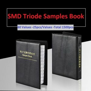 60 Values Smd smt Sot 23 Transistor Triode Samples Book Assorted Kit Component