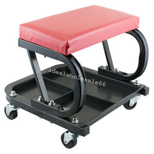 Mechanic Creeper Rolling Seat Work Shop Repair Stools Roller Seat Chair Us Ups