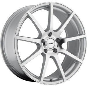 18x8 Silver Tsw Interlagos Wheels 5x4 5 35 Mitsubishi Lancer Evolution 3000 Gt