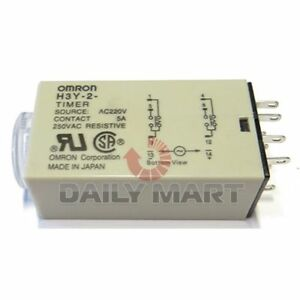 Omron New H3y 2 220vac 10s Plc Solid State Terminal Delay Timer Time Relay