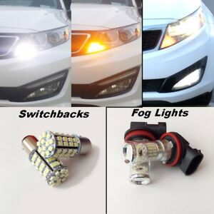 For Kia Optima 2011 2015 Switchback Led Turn Signals Led Fog Lights Package
