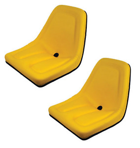 New Yellow Set Of 2 Seats For John Deere Gator Tm333yl Bobcat Skid Steer Case ih