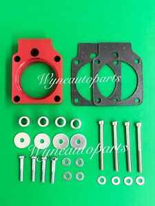 Red Billet Aluminum Throttle Body Spacer Fit 01 05 Honda Civic 1 7l Sohc