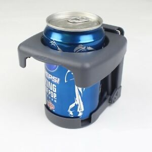 Gray Adjustable Folding Drink Cup Bottle Holder Stand Mount Car Boat Fishing Box