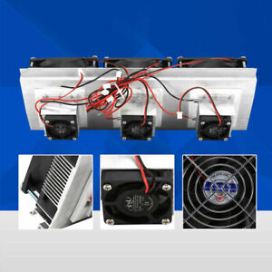 3 Chip Semiconductor Refrigeration Kit Thermoelectric Peltier Air Cooling Decive