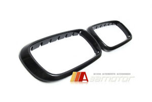 Dry Carbon Fiber Front Hood Grille Covers For Bmw F15 X5 F85 X5m F16 X6 F86 X6m