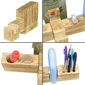 Desk Wood Organizer Desktop Office Organizer For Reading Glasses Pens Notebook
