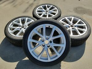 2009 2010 2011 Audi A6 S6 C6 18 Inch Alloy Rims Wheels Tires Set 10 Spoke