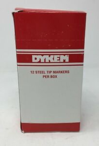 Box Of 12 Dykem Texpen Steel Tip Markers Medium Tip Yellow 16063