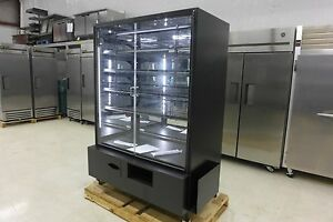 New Marco 4 Display Swing Door Led Dry Bakery Display Cabinet Donut Pastry Case