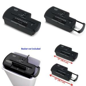 8 Sheet Strip Cut Paper Shredder Automatic Credit Card Cutter Cd Destroyer Black