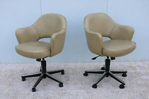 Knoll Eero Saarinen Executive Arm Chair With Swivel Base Mid Century Modern 1950