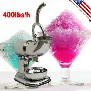 220w Ice Shaver Machine Snow Cone Maker Shaved Icee 400 Lbs Electric Crusher New