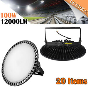20x 100w Thin Led High Bay Warehouse Bright White Fixture Factory Outdoor Light