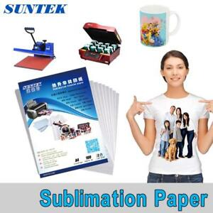 Sublimation Paper Heat Transfer Printing For Fabrics Mugs Glasses A4 100 Sheets