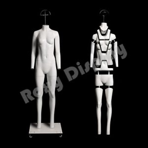 Female Invisible Ghost Mannequin Manikin Display Dress Form mz ght f