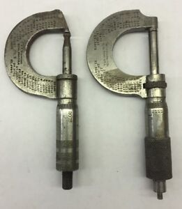 Lot Of 2 Starrett No 3 231 Micrometer
