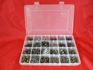 Lot Of 9lbs Assorted Screws Bolts Brass Fittings Cotter Pins Nuts Washers W Box