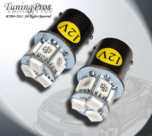 Rear Signal 1156 9 Smd Yellow Led Light Bulb Set Of 2 1 Pair 3497 5007 1156a