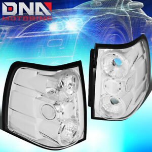 For 2003 2006 Ford Expedition Chrome Housing Altezza Tail Light Rear Brake Lamps