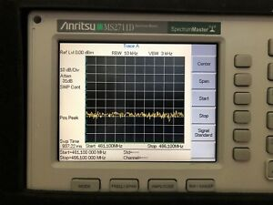 Anritsu Ms2711d Hand Held Spectrum Master Analyzer W Option 3 Color Lcd Case