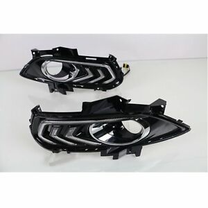 2x 3 Color Daytime Running Light Drl For Ford Fusion 13 16 Driving Car Fog Lamps