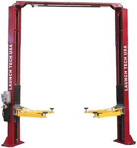 New Launch 9 000 Lb Asymmetric 2 Post Auto Lift Car Hoist Free Truck Adapters