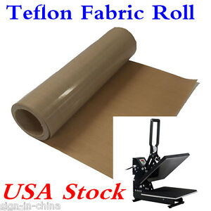 Usa 39 X5 Yard Teflon Fabric Sheet Roll 5mil Thickness For Sublimation Printing