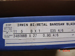 Irwin 1 X 11 5 Long Band Saw Blade 4 6 Tpi 87732