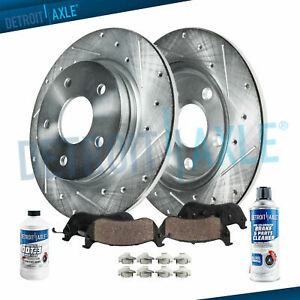 Rear Brake Rotor Ceramic Brake Pad Corolla Matrix Prius Brakes Drilled Slotted