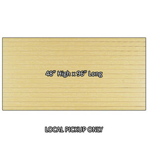 4 Ft X 8 Ft Slatwall Panel High Quality Usa Made Hard Rock Maple Ny Pickup