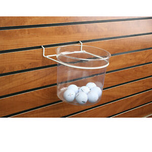 Slatwall Plastic Bucket With Metal Frame Also Fits Pegboard 4 Pieces