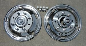 Ford F450 F550 19 5 03 04 Stainless Dually Wheel Simulators Fronts