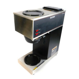 Bunn 33200 0000 Vpr Black 12 Cup Coffee Brewer With 1 Upper And 1 Lower Warmer