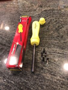 New Snap On Hi Visibility Ratcheting Screwdriver Ssdmr4bhv With 5 Bits