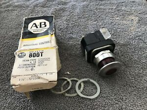 1x Allen bradley 800t fxp16ra1 Illuminated Red 2 Position Push Button Used