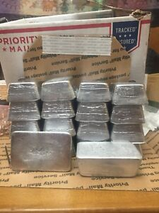 WHEEL WEIGHT LEAD INGOTS 66# $1.51 lb delivered all clip-on type w extra tin