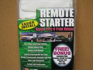 Remote Start Keyless Entry Trunk Release Bulldog Security Model Rs102 W bypass