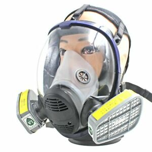 Full Facepiece Respirator Anti Acid Gas Mask For Painting Spraying Safety Mask T
