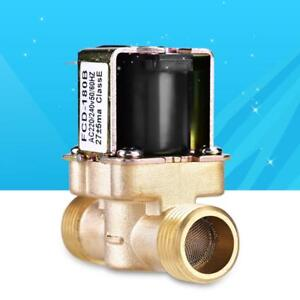 Brass 1 2 N c Magnetic Electric Solenoid Valve Water Air Inlet Flow Switch 220v