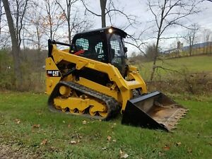 2014 Caterpillar 259d Compact Track Skid Steer Loader Diesel Cat 2 Speed Cab Ac