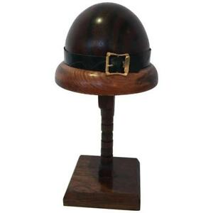 Exquisite English Doll Wood Hat Form Mold On Stand