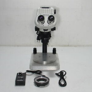 Wild M450 Makroskop Microscope W 10x Eyepieces Light Ring And Stand