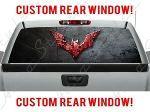 Batman Dc Comic Rear Ford Gmc Dodge Chevy Pickup Truck Perforated Window Decal
